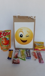 Party Buckets in the East Rand personalized party packs filled with quality sweets brown paper party bags029