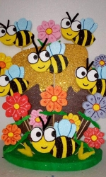 Party Buckets in the East Rand personalized party packs filled with quality sweets polystyrene centerpieces025